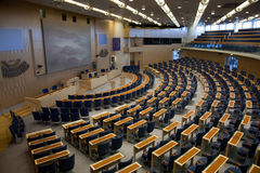 Interior of Swedish parliament in Stockholm Stock Photo