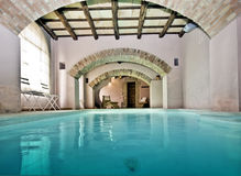 Interior Swimming Pool. An interior swimming pool in a royal house Royalty Free Stock Photos