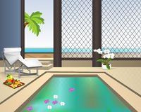 Interior swimming pool, cdr vector Royalty Free Stock Image