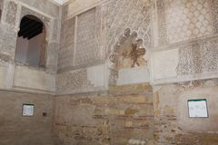 Interior of synagogue of Cordoba, Spain. Jewry, detail. royalty free stock photo