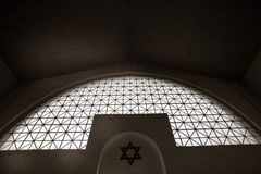Interior of the synagogue in the Jewish cemetery in Lodz, Poland Royalty Free Stock Photo