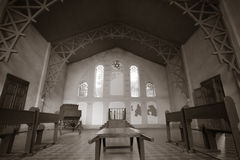 Interior of the synagogue in the Jewish cemetery in Lodz, Poland Stock Images