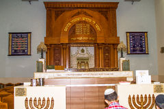 The interior of the synagogue Kipusit in Tel Aviv. Israel. Stock Images
