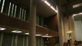 Interior of The Synagogue of Peace stock video footage