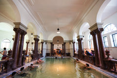 Interior of Szechenyi Spa (Bath, Therms) in Budapest Stock Image