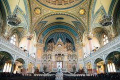 Interior of Szeged Synagogue in Szeged, Hungary