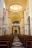 Interior of Ta' Pinu Church on Gozo, Malta Royalty Free Stock Photo