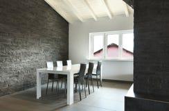 Interior, tabela de jantar Fotografia de Stock Royalty Free