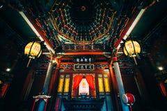 The interior of the Taipei Confucius Temple, in Taipei, Taiwan. Royalty Free Stock Photo