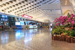 Interior of the Taiwan Taoyuan International Airport. Taipei, Taiwan - January 9, 2015: Interior of the Taiwan Taoyuan International Airport, the busiest airport Stock Images