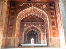 Interior of Taj Mahal. Stock Photo