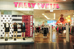 Interior of Tally Weijl fashion clothes store Stock Images