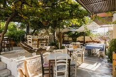 Tavern in Crete Stock Photography