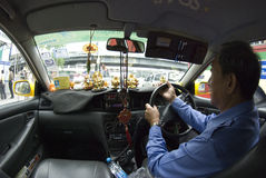 Interior Taxi Stock Images