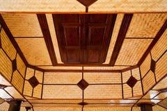 Interior tejido bambú Fotos de archivo