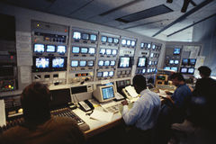 Interior of Television Station Stock Image