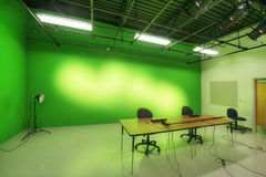 Interior of Television Studio Stock Image