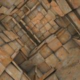 Interior telhado fragmentado do labirinto do mosaico na laranja oxidada Fotos de Stock