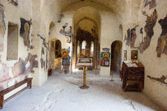The interior of the temple Asenova Fortress Royalty Free Stock Photography