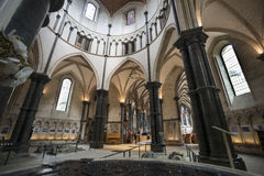 Interior of Temple Church London England. Knights Templar Royalty Free Stock Images