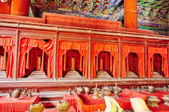 Interior of Temple Confucius at Beijing -the second largest Conf Royalty Free Stock Image