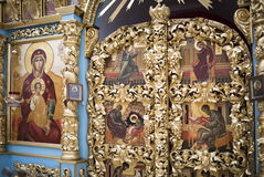 The interior the temple of the Don icon of the Mother of God Stock Photography