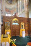 Interior of temple of Dormition of most Holy our Lady royalty free stock images