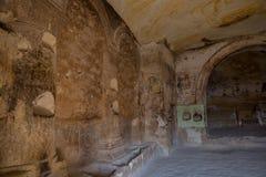 Interior of the temple. Inside of Church of St. John the Baptist, Cavusin Village, Cappadocia, Nevsehir region