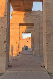 The interior of the Temple of Kom Ombo Stock Photos