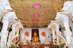 The interior of Temple of the Lord Buddha Tooth Stock Image