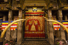 Interior of the Temple of the Sacred Tooth Relic (Sri Dalada Maligwa) in Central Sri Lanka Stock Photo