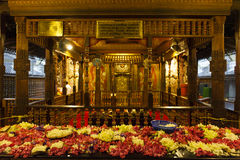 Interior of the Temple of the Sacred Tooth Relic (Sri Dalada Maligwa) in Central Sri Lanka Royalty Free Stock Photos