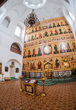Interior of the Temple of Trinity in Valday, Russia Royalty Free Stock Photography