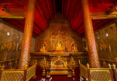 Interior of the temple Wat Phra Singh in Chiang Mai, Thailand Royalty Free Stock Photos