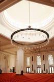 Interior of Tengku Ampuan Jemaah Mosque in Selangor, Malaysia Royalty Free Stock Photo