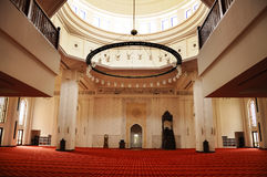 Interior of Tengku Ampuan Jemaah Mosque in Selangor, Malaysia Royalty Free Stock Images