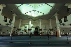 Interior of Tengku Tengah Zaharah Mosque in Terengganu Royalty Free Stock Photography