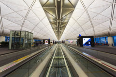 Interior terminal del aeropuerto de Hong Kong Fotografía de archivo libre de regalías