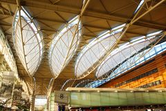 Interior - terminal do International do SFO Foto de Stock