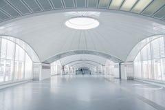 Interior terminal futurista Imagen de archivo libre de regalías