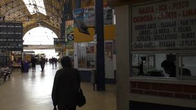 Interior of the Terminal of La Paz Central Bus Station. Bolivia, South America stock footage