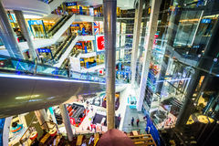 Interior of the Terminal 21 mall in Bangkok, Thailand. Royalty Free Stock Images