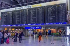 Frankfurt airport table Royalty Free Stock Photography