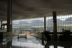 Interior of ternminal 2 in Hong Kong international airport Stock Photos