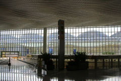 Interior of ternminal 2 in Hong Kong international airport Royalty Free Stock Photography