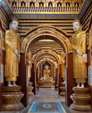 Interior of Thanbokde Pagoda, Monywa, Myanmar Royalty Free Stock Images