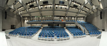 Interior of a theater. Interior of a conference hall, view from the stage Stock Photo