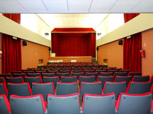 The interior of the theater in the city of Valli del Pasubio in Italy Stock Photos