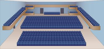 Interior of theater hall plan  Royalty Free Stock Photos