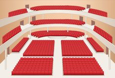 Interior of theater hall plan  Royalty Free Stock Photography